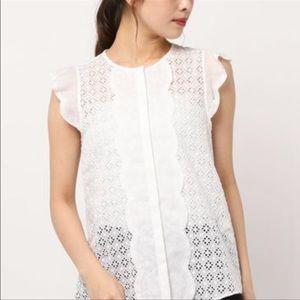 Kate Spade ♠️ scallop blouse nwot